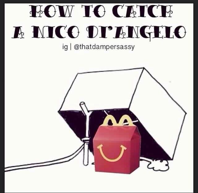 I shall try this immediately! I actually like the fact that Nico likes HAPPY meals. Because he is always so sad, maybe it helps him...?