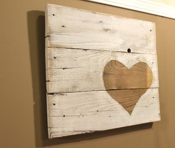 "This piece of art consists of three reclaimed pallet boards that have been cut, sanded, painted and stained and then distressed even more. Dimensions: are 18.5"" wide by 16"" tall. This art also has a w"