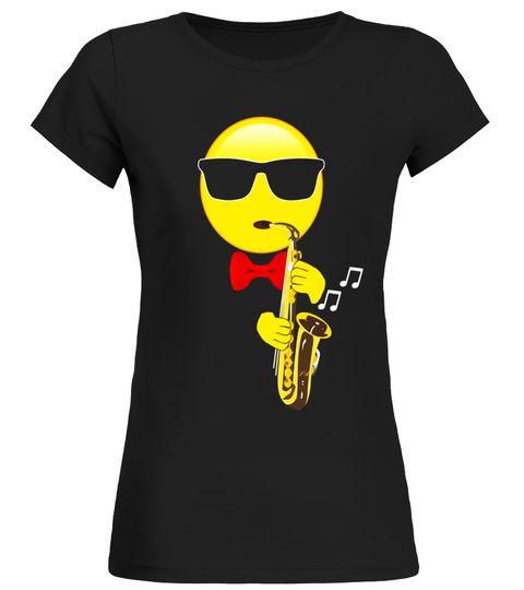 Musical Emoji Saxophone Gift T-Shirt Idea for Sax Players