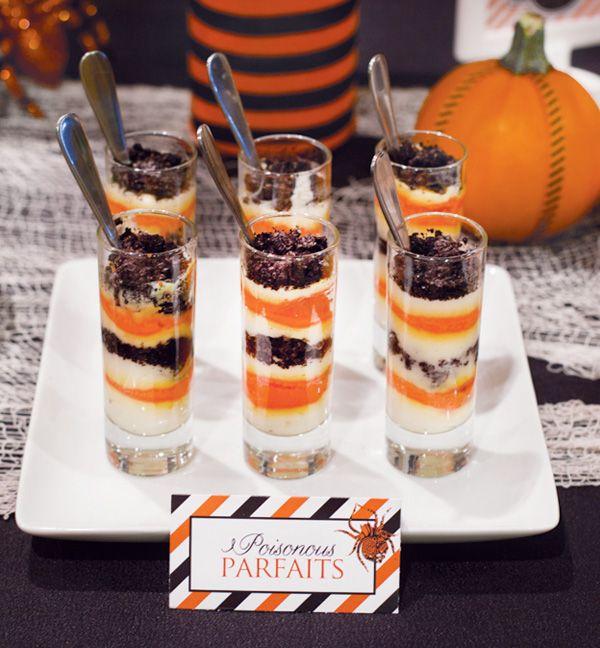 Layered Halloween Parfaits: Fun Desserts, Holidays Events, Minis Halloween, Desserts Ideas, Foodtruck Desserts, Halloween Parfait, Layered Halloween, Click Image, Halloween Cakes