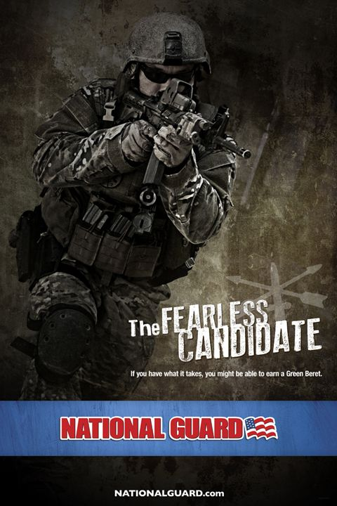 National Guard | Special Forces, The Fearless Candidate by RACEPONY studio , via Behance