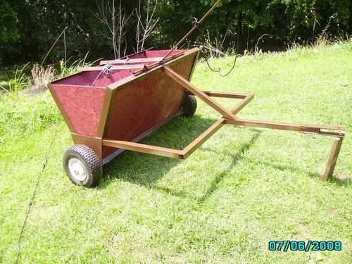 Home Built Manure Spreader : Home made atv implements qdma forums plows