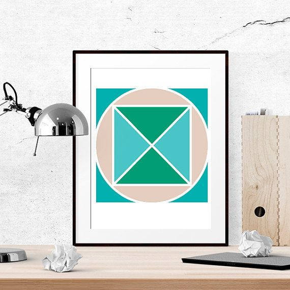 40% OFF Abstract Print DIY Gift idea Geometric by LUCIAandLUCIANA