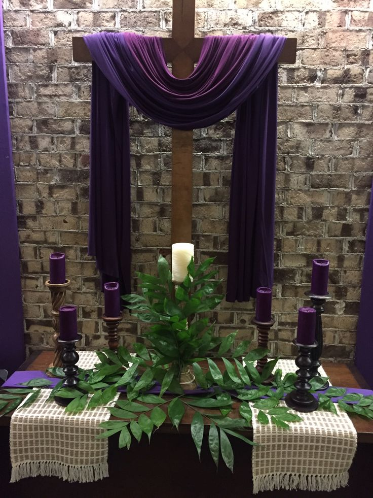 17 best worship good friday images on pinterest church for Altar decoration ideas