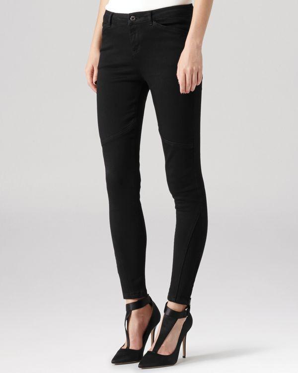 Reiss Jeans - Kelly Biker Skinny in Black