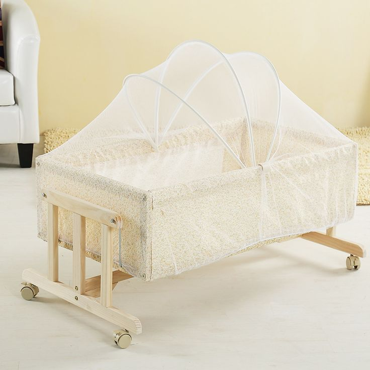 Portable wood crib cradle bed baby shaker small baby cradle
