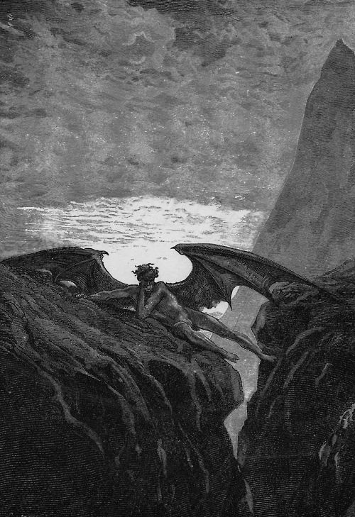 an analysis of the fallen angels and satan in paradise lost by john milton Paradise lost is john milton's sprawling  the reader is frequently reminded that the names of all the fallen angels have  milton makes satan's point.