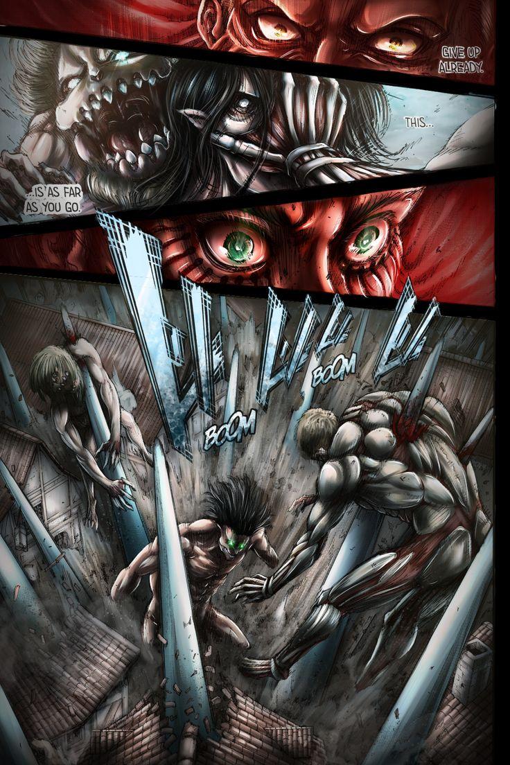 Pin de Sam em Titans Anime, Arte mangá, Shingeki no kyojin