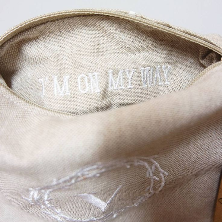 I'm on my way è il messaggio segreto che c'era scritto in una delle #my_little_secret_pouch che sono partite ieri... Voi quali parole speciali vi fareste ricamare?