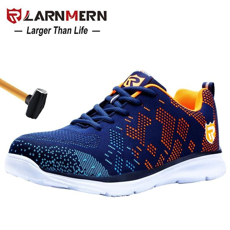 Larnmern steel toe kevlar sole lightweight breathable men