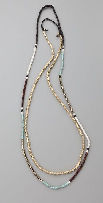 DIY shashi zen golden nugget necklace