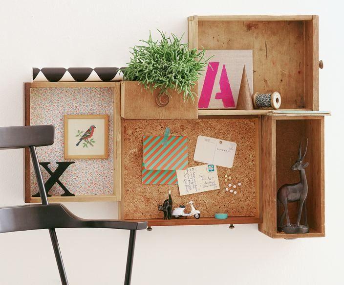 Schubladen müssen nicht im Schrank ihr Leben fristen, auch als Regal an der Wand sehen sie gut aus. Das Beste: man muss nicht viel dafür tun.
