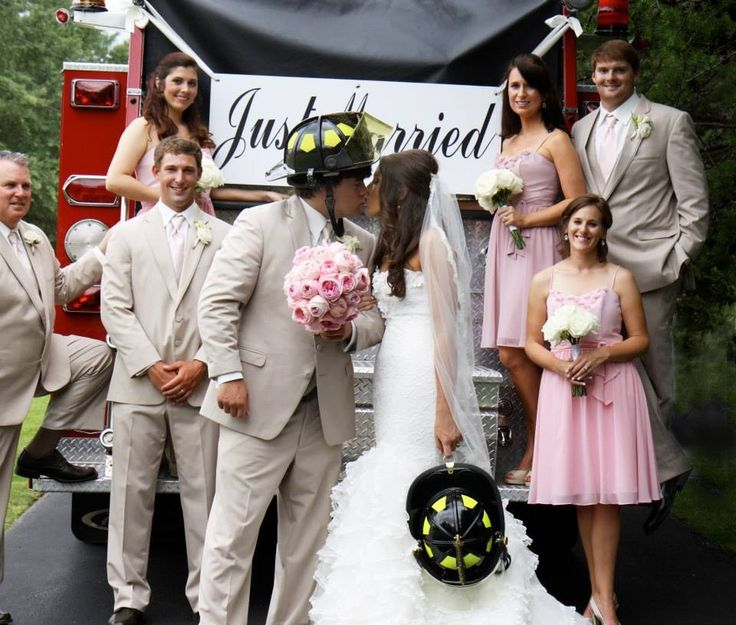 Firefighter Wedding: 116 Best Images About Fire Department Wedding On Pinterest