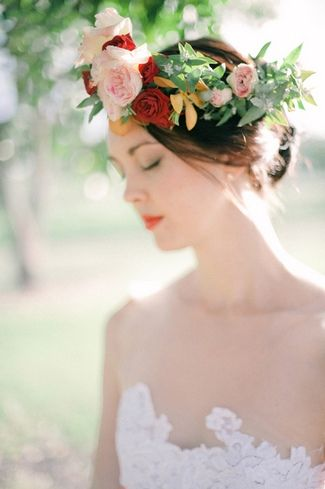 Wianek na Ślub - Kwiaty we Włosach
