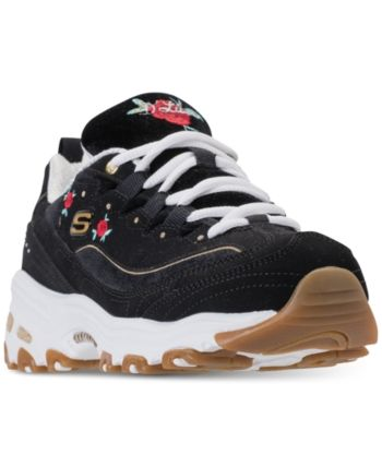 Skechers Women's D'Lites Rose Blooms Walking Sneakers from
