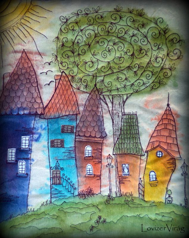 New design www.facebook.com/ZerVir  Little stiched houses