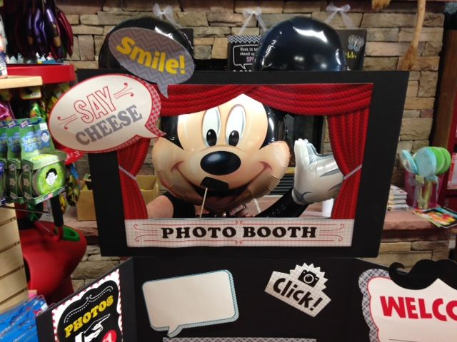 Even Mickey had a great time at the Mustache Photo Booth at School Crossing Vendor day July 2014 This is Creative Teaching Press's Mustache Mania Photo Booth Bulletin Board Set.