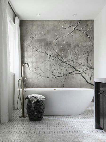 I really like the square design behind the tub.