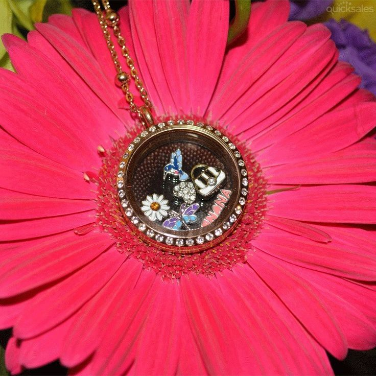 LOVE MY NANA - Rose Gold Round Crystal Floating Charm Locket Set by affordableonlinejewellery - $52.95