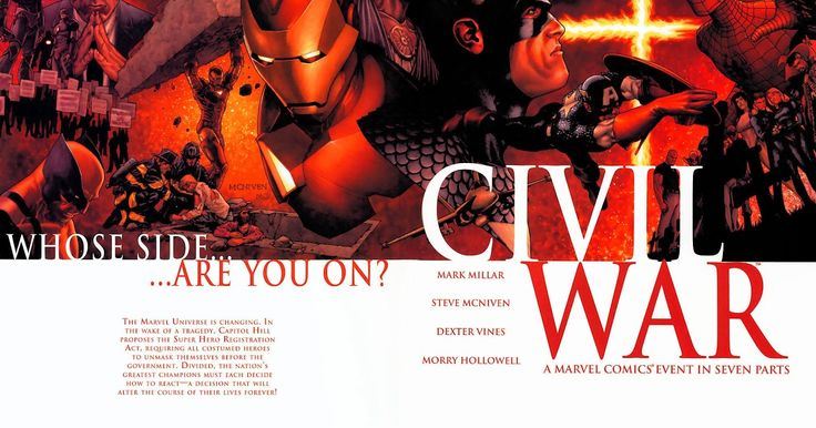 por Mark Millar (Autor) Steve McNiven (Ilustrador) The landscape of the Marvel Universe is changing and it's time to choose: Whose side are you on? A conflict has been brewing from more than a year threatening to pit friend against friend brother against brother - and all it will take is a single misstep to cost thousands their lives and ignite the fuse. Civil War (en español Guerra Civil) es una historia en forma de crossover escrita por el guionista Mark Millar y dibujada por Steve…