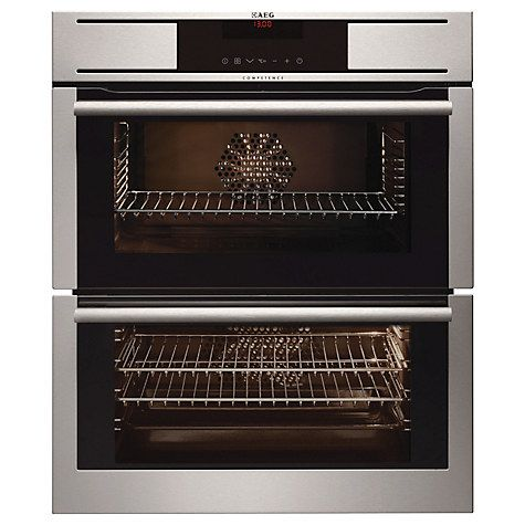 Buy AEG NC7013001M Double Built-Under Oven, Stainless Steel Online at johnlewis.com
