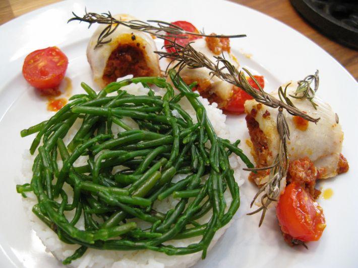 Chorizo Stuffed Fish Filets