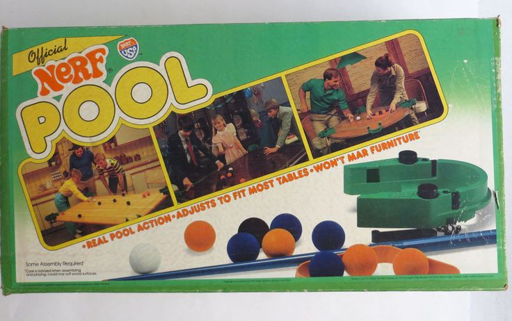 Vintage Parker Brothers Official Nerf Pool Billiards Game #ParkerBrothers