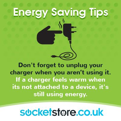Energy saving tips power charger device energy www for Facts about energy conservation