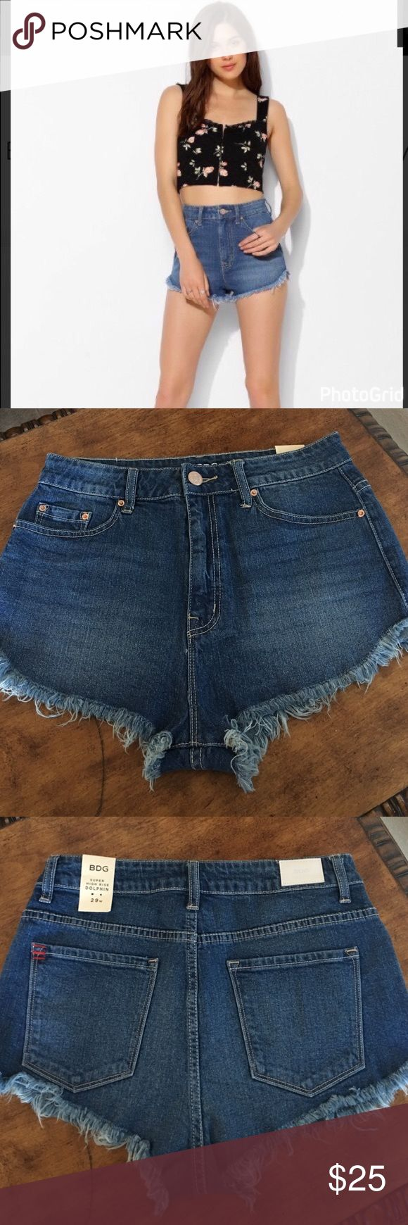 Urban Outfitters BDG Super High Rise Dolphin short NWT Urban Outfitters Shorts Jean Shorts