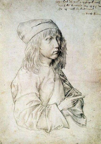 Albrecht Durer (German, 1471 – 1528), self-portrait at age 13