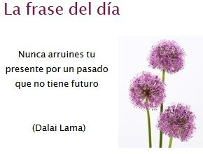 Don't ruin your present for a past that has no future - Dalai Lama-