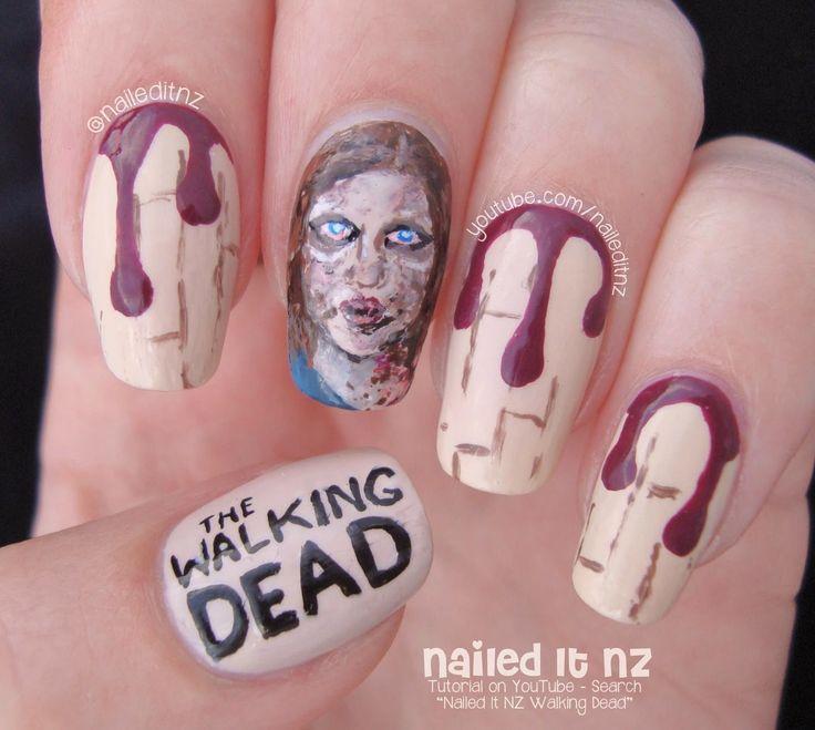 Nailed It NZ: The Walking Dead Nail Art | Zombie Sophia