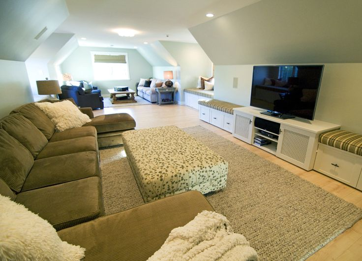 Large Family Room Design Ideas Part - 37: 15 Unique Bonus Room Ideas And Designs For Your Home