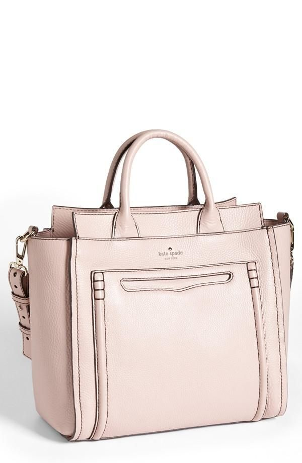 Love the champagne pink! kate spade new york crossbody tote