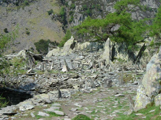 Craggy path up Castle Crag