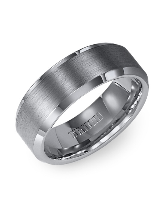 A Wedding Band Idea For James We Both Like The Gunmetal Colors But Then It Wouldn T Match Mine Stuff Pinterest Tungsten Carbide