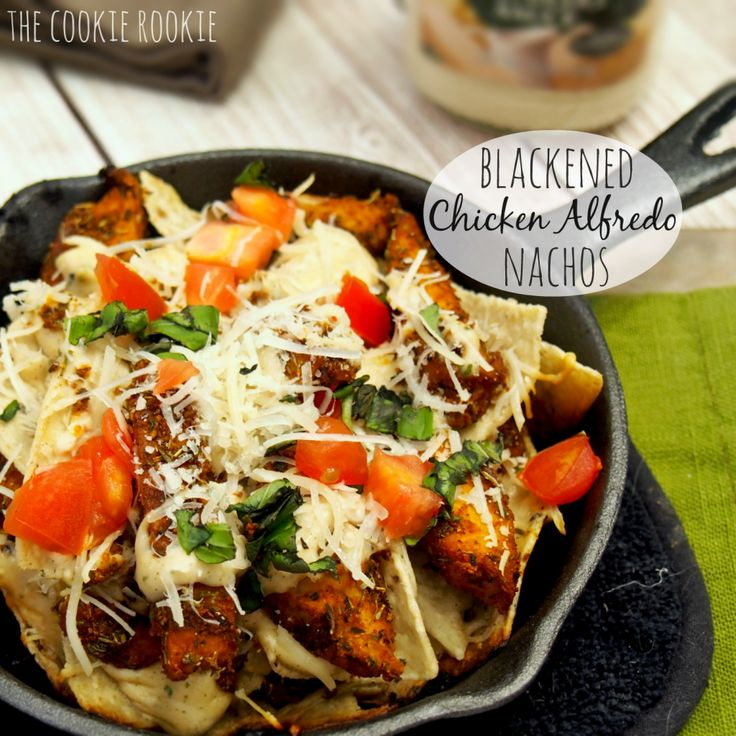 Blackened Chicken Alfredo Nachos are delicious and so addicting! You will crave this again and again. Made with Francesco Rinaldi Sauce.