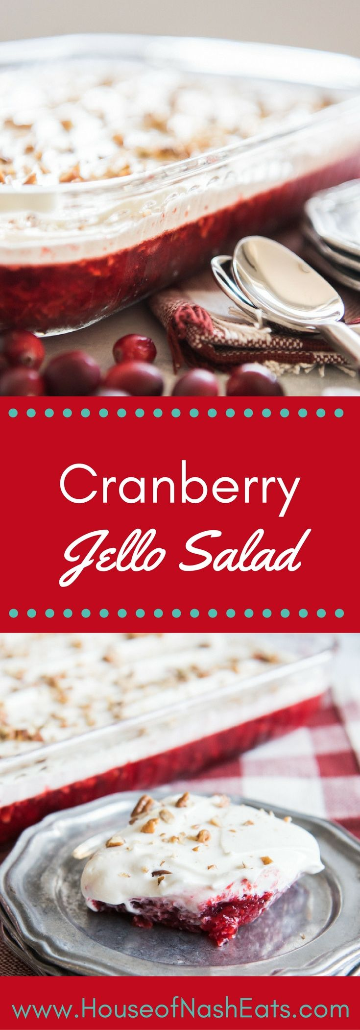 Cranberry Jell-O Salad  My great grandmother Brachenwagon used to make this when I was a little girl. She made it in a binder mold and filled the middle with the topping. I have been looking for this recipe for 30 years!