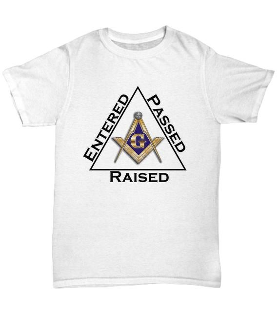 1b082d0d Masonic shirt - Entered Passed Raised - Freemasonry square compass symbol  Lodge rite - Freemason log
