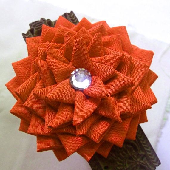 Halloween fabric flowers Tutorial Deluxe pattern  PDF by Soles