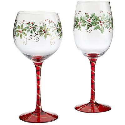 17 best images about christmas table ideas on pinterest for Martha stewart christmas wine glasses