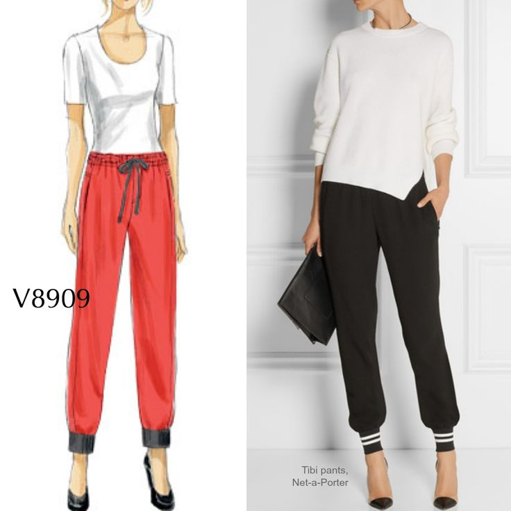 "Didn't Google just say ""jogging pants' were one of the most-searched fashion items? Sew the look with Vogue Patterns V8909."