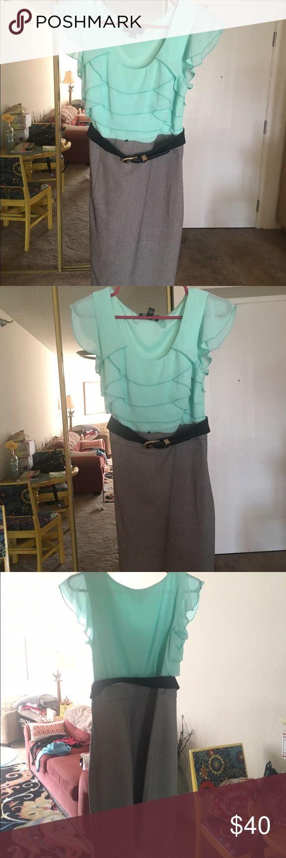 Cute business professional dress w/ belt Cute business professional dress w/ belt never worn Dresses Midi