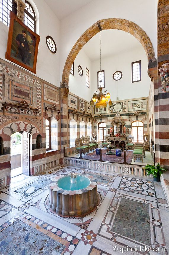 Top 25 ideas about damascus syrian courtyards on for Palace design homes
