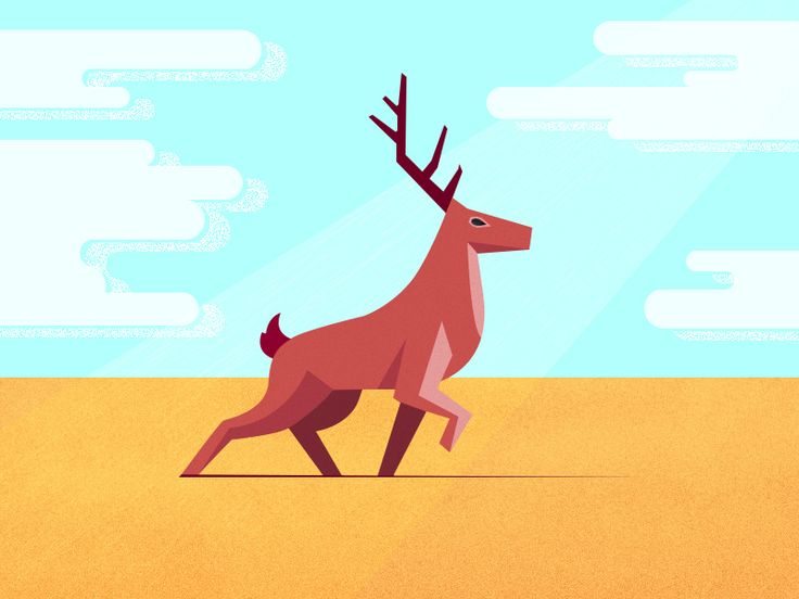 Deer by Roman Gordienko
