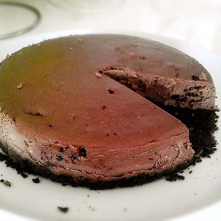 ココナッツミルクで生チョコレートチーズケーキ