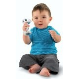 Fisher-Price Babys First Silver Dumbbell Rattle