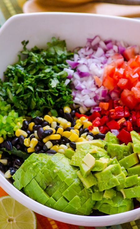 Healthy Vegan Creamy Mexican Kale Salad