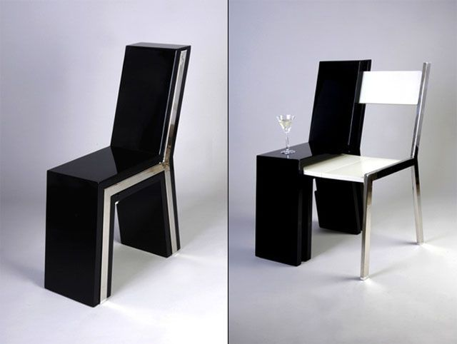 Des Meubles Incroyables Une Chaise Double Mobilier De Salon Meubles A Usages Multiples Meuble Design