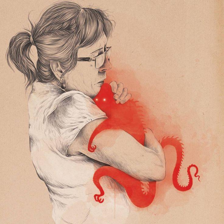 #vorjailustracion /// #hug #illustration #fear #phobia #ilustracion #instart #art #artwork #doodle #draw #barcelona #editorial #artoftheday